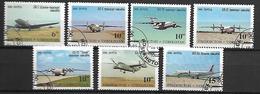 OUZBEKISTAN    -   1995 .   Y&T N° 61Q à 61W  Oblitérés .  Avions.  Série Complète. - Ouzbékistan