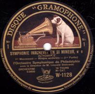 78 Trs - 30 Cm - Etat B - 2 Disques - SYMPHONIE INACHEVEE EN SI MINEUR N°8 Orchestre Symphonique De Fhiladelphie - 78 T - Disques Pour Gramophone