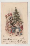 Kerstman/Sancta Claus/Père Noël Met Kinderen - Illustratie - Uitg. A&M - Santa Claus