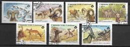 OUZBEKISTAN    -   1996 .   Y&T N° 62 à 68  Oblitérés .  Chèvres / Mouflons / Saïga ....  Série Complète. - Ouzbékistan