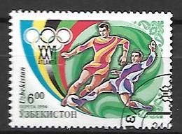 OUZBEKISTAN    -   1996 .   Y&T N° 69 Oblitéré .  JO D' Atlanta .  Football - Ouzbékistan