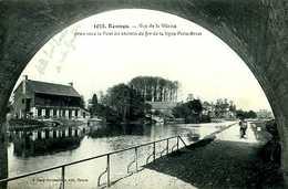 Rennes (35) : Vue De La Vilaine Prise Sous Le Pont De Chemin De Fer De La Ligne Paris Brest - Rennes