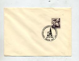 Lettre Cachet Wien Ouverture Maison Europe - Marcofilie - EMA (Print Machine)