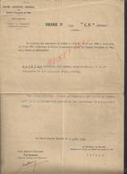 MILITARIA Lt  MILITAIRE GRAND QUARTIER GÉNÉRAL DES ARMÉES DE L EST ORDRE N° 7555  PETAIN MORT DE ESTEVE CÉLESTIN 85e Inf - 1914-18