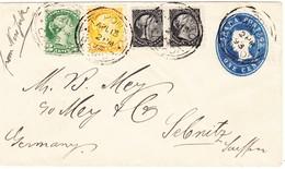 1893/96 Drei Ganzsachenbriefe Aus Toronto Nach Sebnitz,aus Montreal Nach Monterey Mexico Und St. Stephen Nach Belleville - 1851-1902 Victoria