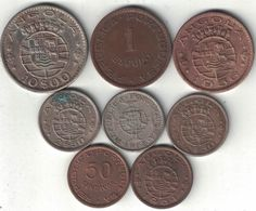 Angola Collection Of 8 Coins 1954-1969 All Listed & Different - Angola