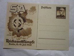 Postkarte Carte De Propagande Allemagne 3eme Reich Voir La Photo SA - Alemania