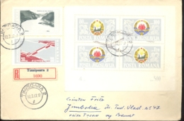 74314- IRON GATES-DERDAP WATER POWER PLANT, JOINT ISSUES, STAMPS ON REGISTERED COVER, 1967, ROMANIA-YUGOSLAVIA - Emissions Communes