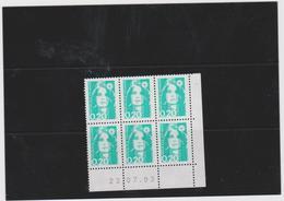 FRANCE MARIANNE DE BRIAT 1 COIN DATE CD2618 (6 T 0,20 F) Date 23.07.93 - Esquina Con Fecha