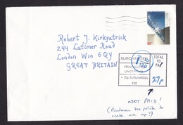 Netherlands: Cover To UK, 1993, 1 Stamp, Dutch & British Postage Due Markings, Taxed (traces Of Use; Written Note) - Period 1980-... (Beatrix)