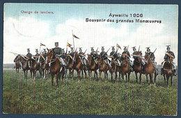 Armée Belge - Charge De Lanciers - Aywaille 1906 - Souvenir Des Grandes Manoeuvres - Manoeuvres