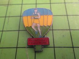313J Pin's Pins : Rare Et Belle Qualité : THEME MONTGOLFIERES / BALLON LIBRE ANNONAY ATHLETISME - Airships