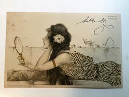 AK  RAPHAEL KIRCHNER - FEMME ET LIERRE - Téo Stroefer 's Kunstverlag - Ser.99 N° IX - Lith. & Druck & Buch  1901 - Kirchner, Raphael