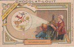 Chromo Chocolat Louit .. Les Jouets Anciens .. La Lanterne Magique - Louit