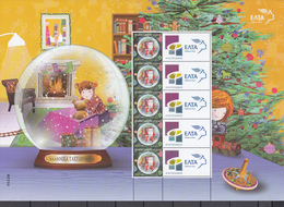 Greece 2018 Christmas Personalized Stamp Sheet. MNH - Greece