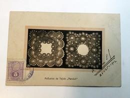 "AK  PARAGUAY   PANUELOS DE TEJIDO  "" NANDUTI ""  1912. - Paraguay"