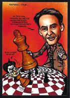 CPM échecs Chess Raphaël Glucksmann Mélenchon Tirage Limité En 30 Exemplaires Numérotés Signés - Chess