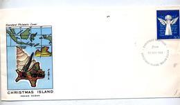 Lettre  Cachet Salutation Noel 1982 - Christmas Island