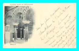A725 / 203  SEVILLA Alcazar Beau Timbre Comunicaciones 10 Centimos Edifil 218 - Storia Postale