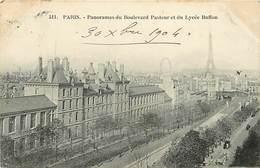 - Paris -ref-C489-  Panorama Du Boulevard Pasteur Et Du Lycee Buffon - Lyces - Ecoles - Carte Bon Etat - - Arrondissement: 15