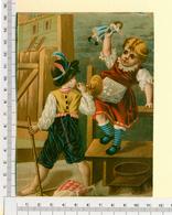 CHROMO LITHO..GRAND FORMAT...H 15 Cm  ...JEUX D'ENFANTS...POUPEE - Vieux Papiers