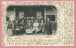 China - TSIMO - Abschiedsbesuch Des Deutschen Gouverneurs Bei Dem Mandarinen - Stempel TONGKU - Deutsche Kolonien - China