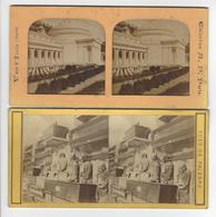 Circa 1870 1880 GENES GENOVA + PALERME 2 STEREO ITALIE ITALIA PHOTO STEREO /FREE SHIPPING REGISTERED - Stereoscoop
