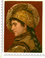 CHROMO LITHO..GRAND FORMAT...H 18 Cm  ...JEUNE FEMME - Vieux Papiers