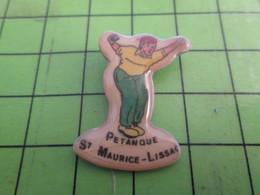 313J Pin's Pins : Rare Et Belle Qualité : THEME SPORTS / CLUB PETANQUE ST MAURICE LISSAC - Bowls - Pétanque