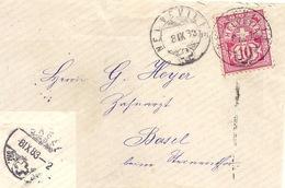 Brieflein  Neuveville - Basel          1883 - 1882-1906 Armarios, Helvetia De Pie & UPU