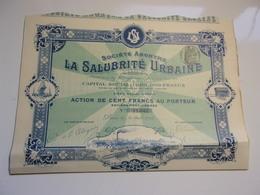 LA SALUBRITE URBAINE (1905) - Shareholdings