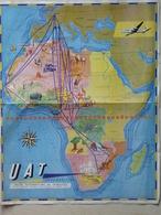 Carte Des Lignes U.A.T De L'Afrique - Cartes