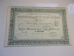 Compagnie électrique Du SECTEUR DE LA RIVE GAUCHE DE PARIS (1893) - Azioni & Titoli