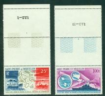 St Pierre PA 38-39 Voyage Du Gen. DeGaulle,  Neuf** Sans Charniere, Scott C35-36 Mint NH - Airmail