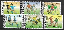 AZERBAIDJAN   -   1994 .  Y&T N° 149 +  151 à 155 Oblitérés.  FOTT-BALL - Azerbaïdjan