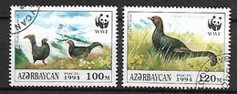 AZERBAIDJAN   -   1994 .  Y&T N° 165 à 166 Oblitérés.   Oiseaux  /  Tétras Lyre - Azerbaïdjan