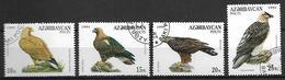 AZERBAIDJAN   -   1994 .  Y&T N° 167 à 170 Oblitérés.   Oiseaux  /  Rapaces - Azerbaïdjan