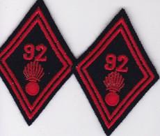 2 Écussons Tissu Militaire (Format Largeur 5 Hauteur 7 - Ecussons Tissu
