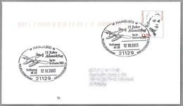 75 Años VUELO ATLANTICO Avion Postal HA 139. Hamburg 2003 - Correo Postal