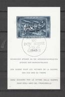 1945 EMISSIONS AVEC SURTAXE   BLOC  N°21   OBLITERE     COTE 280 FRS VENDU A 20% 56.00 FRS.  CATALOGUE ZUMSTEIN - Blocks & Sheetlets & Panes