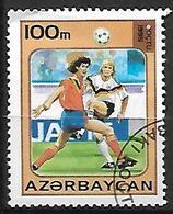 AZERBAIDJAN   -   1995 .  Y&T N° 242A  Oblitéré .  FOOT-BALL - Azerbaïdjan