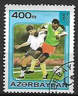 AZERBAIDJAN   -   1995 .  Y&T N° 242E  Oblitéré .  FOOT-BALL - Azerbaïdjan