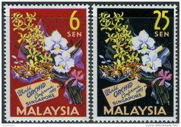 Malaysia 1963. Michel #4/5 MNH/Luxe. Orchids. (Ts16) - Federation Of Malaya