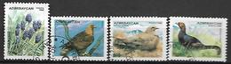 AZERBAIDJAN   -   1995 .  Y&T N° 244 à 246  é  248 à 249  Oblitérés .  Oiseaux.  Aigle - Azerbaïdjan