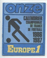 ONZE Calendrier Championnat France Football 1986 1987 - 8 Pages - Voetbal