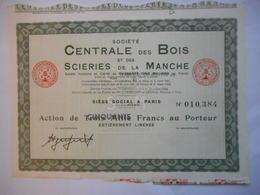 Centrale Des BOIS Et SCIERIES De La MANCHE - Industrie