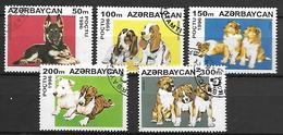 AZERBAIDJAN   -   1996 .  Y&T N° 261 à 265 Oblitérés .  Chiens - Azerbaïdjan