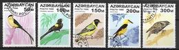 AZERBAIDJAN   -   1996 .  Y&T N° 276 à 280 Oblitérés .  Oiseaux - Azerbaïdjan