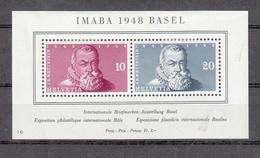 1948 EMISSIONS AVEC SURTAXE   BLOC  N°31   NEUF*     COTE 100 FRS VENDU A 15% 15.00 FRS.  CATALOGUE ZUMSTEIN - Blocks & Sheetlets & Panes