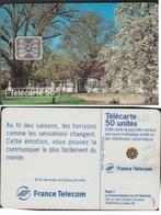 F466.000 PRINTEMPS 50 U PUCE SC5An P6 SANS NUMERO FRAPPE AU VERSO - France
